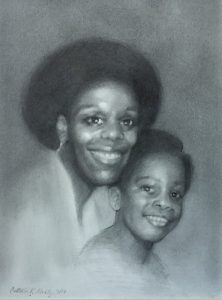 Portrait of mother and son